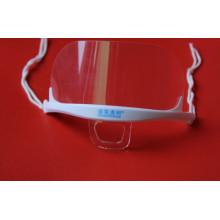 Masque plastique transparent anti-brouillard à double face (MK-003)
