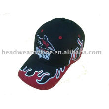Cotton sun hat with applique embroidery