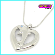 Fashion Silver Snack Chain Heart Pendant Necklace Jewellery