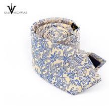 Design personalizado logotipo microfibra jacquard mens gravatas