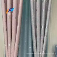Tissus de rideaux occultants pour filles en brique tissée en polyester fantaisie
