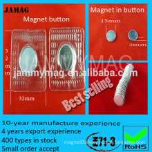 Neodymium Magnet Composite and disc Shape Invisible Sew In Magnet