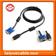 HDMI para cabo VGA, macho / macho