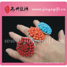 ShangDian Cultural Jewelry Unique Handmade Colorful Gemstone Decorative Ring