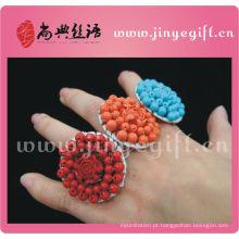 Jóia cultural de ShangDian Anel decorativo feito a mão colorido original de pedra preciosa