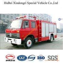 4ton 5ton Dongfeng EQ1141kj 153 camión de bomberos de polvo seco Euro3