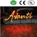 Edelstahl Arylic Beleuchtung LED Schild schreiben