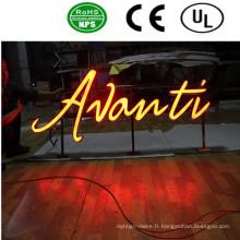 Les lettres de canal illuminées par acrylique de haute qualité de LED signent-Factoray
