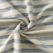 Stripe hoodie french terry knitting fabric