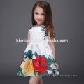 2017 горячие продать без рукавов цветочный дети девочка платье хлопок девочка летнее платье