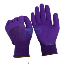 Top quality Polyester liner crinkle foam latex dipped working glove with EN388:2121X