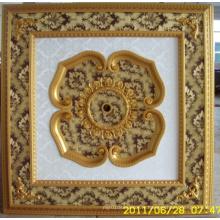 Plafonnier artistique décoratif de Bourgogne et doré Bracade Dl-1114-10