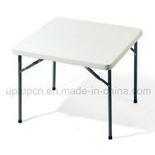Недорогой металлический квадратный стол рамка с белым пластиковым верхом (СП-GT379)