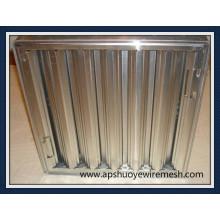 Filtro de graxa de alumínio de aço inoxidável reutilizável lavável