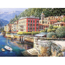 Pintura a óleo handmade lona Mediterrâneo