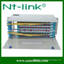 19 polegadas 96 núcleo FC adaptador de fibra óptica patch painel