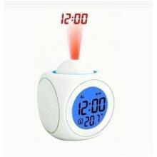 Horloge colorée multifonctionnelle de LED. Contrôle vocal Réveil nuit lumière