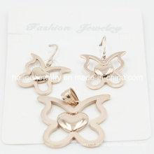 Conjunto simples de jóias de aço inoxidável para decoração