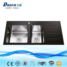 Раковина Dasen стекла из нержавеющей стали раковина двойной шар с drainboard кухня бассейна раковина Topmounted на продажу (ДС-G2903)