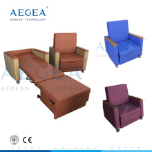 Champion four PU cover ward room accompany sofa lying hospital recliner chair bed for sale