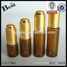 cosmetic 3ml 5ml 7ml 7ml 8ml 10ml 15ml 30ml mini glass dropper bottle luxury gold press pump free samples