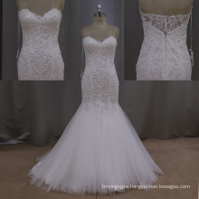 Lace Bridal Mermaid Vestidos Luxury Beading Weddign Gowns
