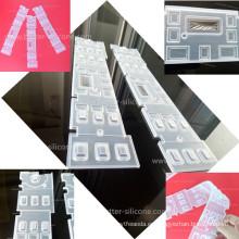 Cubierta de teclado de goma transparente transparente personalizada de goma