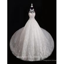 Dernières conceptions 2017 Elegant A-Line Robe à manches longues à manches longues Modes Robe de mariée en dentelle en perles F13802