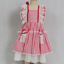 Dollcake remake baby girls red stripe dress
