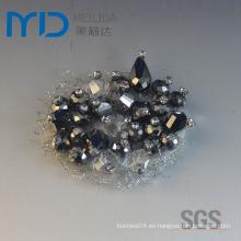 Zapato de encargo Flor de la hebilla con los diamantes