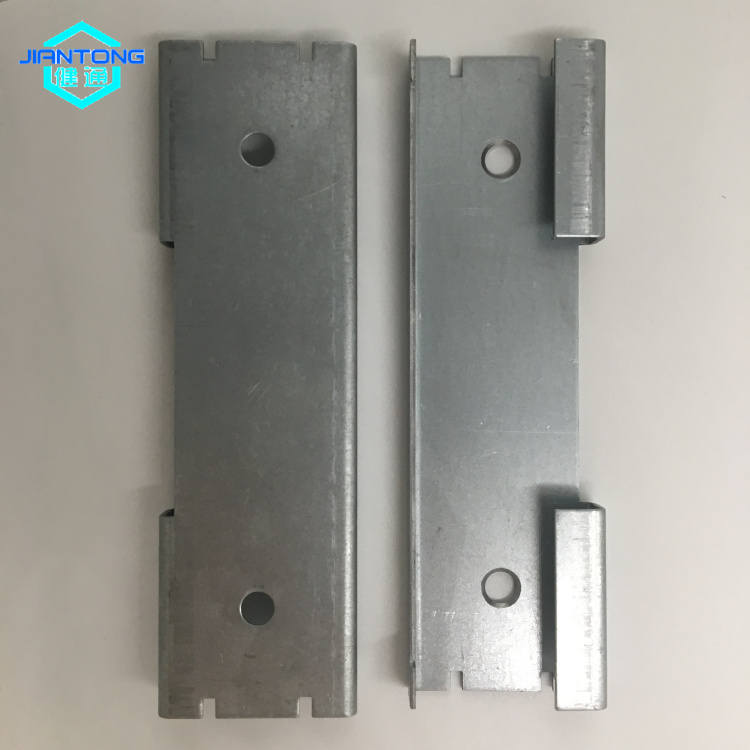 custom sheet metal fabrication black powder coated sheet metal bracket (3)
