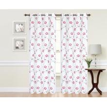 Tissu de rideau brodé par polyester pur avec motif floral