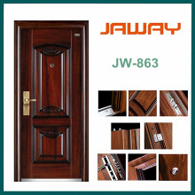High Quality Factory Manufacturer Entry Single Leaf Steel Security Doors Residential