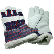 NMSAFETY leather working gloves for winter use drive glove