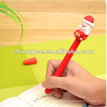 venta por mayor plumas de bola de Navidad con Santa claus, caliente venta de plumas.