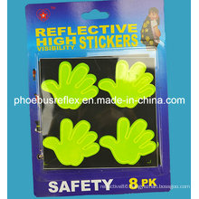 10cm X 10cm Hello Hand Reflective Sticker En13356