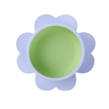 silicone baby feeding non spill suction baby bowl