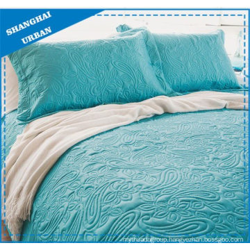 Solid Jade Totem Quilted Polyester Coverlet Set