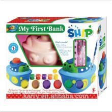 Conjunto inteiro de tinta acrílica cerâmica para crianças ------ Steamer-My First Bank