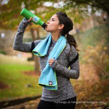 Alta qualidade melhor respiração microfibra esporte toalha de refrigeração