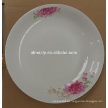 Мода Милый 8 Дюймов Белый Фарфор Керамическая Посуда Блюдо Для Торта С Фруктами Закуска