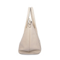 Bolsos Shopper Tote Beige De Cuero De Vaca Simple