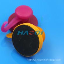different color rubber coated pot magnet for fridge