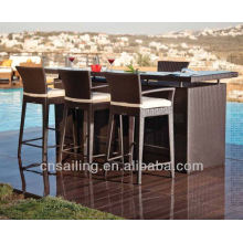 Hot sale Patio All Weather bar counter rattan
