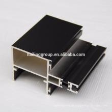 Anodisiertes schwarzes Aluminium-Strangpressprofil