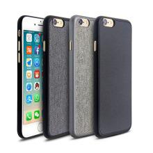 La funda de PP ultrafina super delgada más delgada de la mejor calidad del mundo con cuero o lienzo de PU engrooved para iPhone 6s y para iPhone 7
