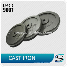 weight lifting plate casting iron black paint