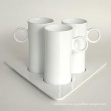 Juego de taza de café de porcelana, estilo # 672