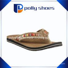 Women′s Top Logo Dark Brown Fashion Flip Flop Sandal Shoes
