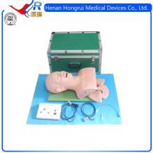 Manequim de intubação elétrica da traquéia